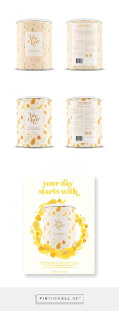 Bircher Muesli by Giullana Alarkon. Source: Daily Package Design Inspiration. Pin curated by #SFields99 #packaging #design