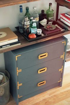 before and after: from plain to campaign chest #ikeahack