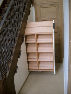 under-the-stairs shoe rack