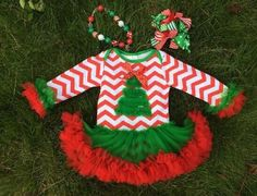 Preorder-baby Christmas Tree Chiffon Ruffle Tutu
