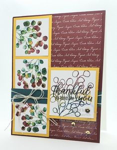 Fall Cards, Christmas Cards, Stamp Storage, Thankful For Friends, Stampin Up Paper Pumpkin, Pumpkin Cards, Greeting Cards, Gift Cards, Card Patterns