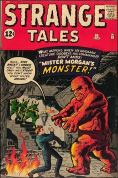 Here's some more monster-size fun from Marvel Comics' Strange Tales . Strange Tales November Cover by Jack Kirby. Vintage Comic Books, Vintage Comics, Marvel Comic Books, Comic Books Art, Caricature, Jack Kirby Art, Strange Tales, Western Comics, Silver Age Comics