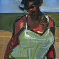 Ruth Franklin, untitled (swimmer 2, rf5792), 2009, acrylic on canvas, 16 x 16 inches