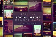 Stellar Social Media Banner Pack by Zeppelin Graphics on @creativemarket