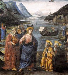 DOMENICO GHIRLANDAIO (1449 - 1494) - Calling of the Apostles, detail - 1481.