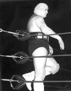 Wrestler Dusty Rhodes in the ring for his NWA match with Harley Race - Key West, Florida