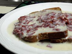 My mom called it Chipped Beef on Toast. My dad called it, $%& on a Shingle.