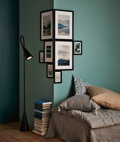 Wall colour and pic placement