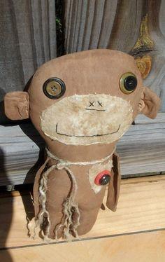 Primitive Choochie Monkey by Rabbithollowprims on Etsy, $18.95