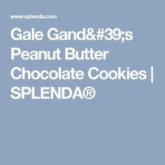 Gale Gand's Peanut Butter Chocolate Cookies | SPLENDA®