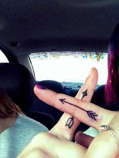 Pi Phi arrows tattoos #piphi #pibetaphi