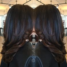 Natural brown Hairpainting #ombre #balayage #brunette #brownhair #blowout #curls