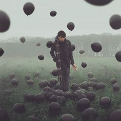 """well, Cigarette and black balloons on foggy day. This is so cool! """"Untitled 285/365 Project""""  by Kyle.Thompson, via Flickr"""
