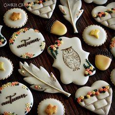 10月ワークショップのサンプルです。1日だけですが、ご興味のある方、楽しくクッキーをデコレーションしましょう♥ のちほどブログにお知らせをアップします。  Autumn cookie set.  #cookiecrumbs #mintlemonade #icingcookies #icedcookies #icedbiscuits #decoratedcookies #cookies #stampedcookies #feather #leaves #acorns #autumncookies #アイシングクッキー