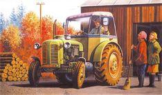 Zetor 50 Super w Cabin Civilization, Antique Cars, Monster Trucks, Cabin, Antiques, Vehicles, Vintage Cars, Antiquities, Cabins