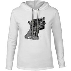 Mintage Arteries of the Neck Mens Fine Jersey Hooded T-Shirt