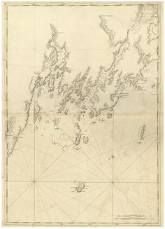 monhegan island maine 1776 map revolutionary war survey by british navy des barres v3