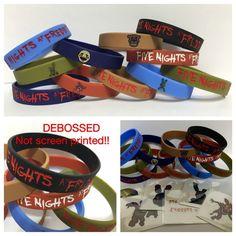 FIVE NIGHTS AT FREDDY'S Party 6 Bracelets PARTY LOOT FNAF Free Tattoos DEBOSSED