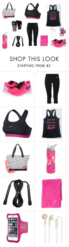 """""""Getting Fit"""" by irishchick11 ❤ liked on Polyvore featuring NIKE, adidas, Everlast, Athleta and Frends"""