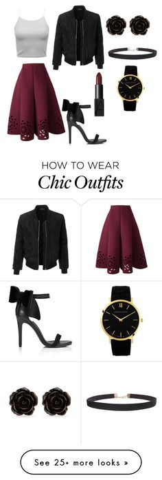 """Christmas Edgy Look"" by mwmw-1 on Polyvore featuring LE3NO, Miss Selfridge, NARS Cosmetics, Humble Chic and Erica Lyons"