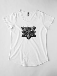 Black roses for the dramatic dark romantic goth gardener of darkness. A classic elegant fashion style, with magical luxury vintage noir flavor of black and white glamorous lifestyle. Romantic Goth, Dramatic Classic, Black Roses, Tshirt Colors, Chiffon Tops, Darkness, Glamour, Fashion Outfits, Black And White