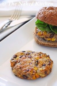 sweet potato quinoa burgers -   Ingredients:  1 can (15 ounces) black beans  3 cups cubed sweet potatoes,   3/4 cup sweet corn, frozen or fresh   1/2 medium red onion,   3 cloves garlic,   1/2 cup cooked quinoa  1 tbsp olive oil  2 tbsp roasted sunflower seeds  1/4 tsp sea salt  fresh black pepper to taste  1 tsp cumin  1 tsp oregano  1 tsp chili powder  1/4 tsp cayenne   1 tbsp hot sauce