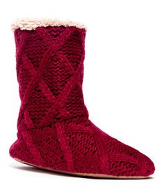 This Radicchio Arden Icelandic Slipper Boot by Heritage Collection by MUK LUKS is perfect! #zulilyfinds
