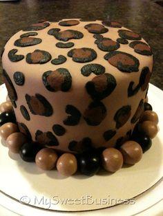 Fun Cheetah Print Cake by My Sweet Business. Berea, Ky www.facebook.com/MySweetBusiness