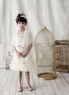 white and bird cages