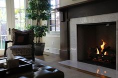 Glass Tile Fireplace Design Ideas, Pictures, Remodel and Decor