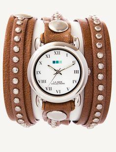 La Mer Watches: Mocha Silver Bali Stud Wrap