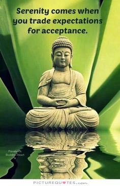 38 Awesome Buddha Quotes On Meditation Spirituality And Happiness 19 Serenity comes when you trade expectations for acceptance. Now Quotes, Life Quotes Love, Motivational Quotes, Inspirational Quotes, Happy Quotes, Little Buddha, Buddhist Quotes, Buddhist Teachings, Buddha Quote
