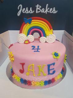Rainbow cake by Jess Bakes www.jessbakes.net