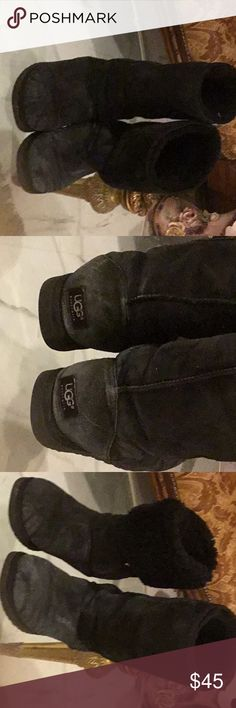 Wear long and short UGGS Tall black uggs paid over 180$.   C8 UGG Shoes Winter & Rain Boots