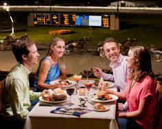 Fortunes' unique tiered seating provides an unbelievable view of the track from every seat in the house. Enjoy convenient tableside wagering as well as flat-screen TV's to view the racing excitement from other tracks across the country.
