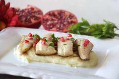 Secondi piatti ricette Filetti di branzino al melograno