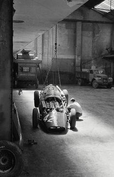 Maserati 250F in the workshop