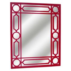 cheap: navy Threshold™ Lattice Mirror at Target (shown in red)