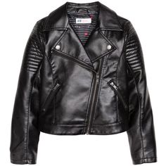 H&M Biker Jacket $29.99 ($30) ❤ liked on Polyvore featuring outerwear, jackets, quilted jacket, vegan leather jacket, faux leather jacket, lined jacket and faux leather motorcycle jacket