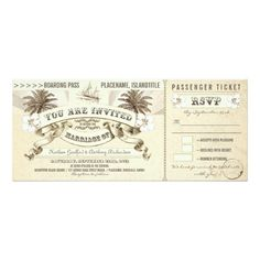 Shopping wedding boarding pass tickets invitations online after you search a lot for where to buy