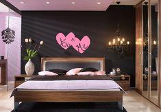 Cute bedroom, great chandelier