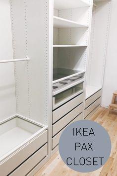 How to get your dream master closet with Ikea. Ikea Closet Hack, Ikea Closet Organizer, Closet Redo, Bedroom Closet Design, Build A Closet, Closet Designs, Closet Organization, Ikea Closet Design, Ikea Wardrobe Closet