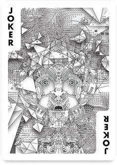 Joker by Joshua Davis – Edition One – Playing Arts Cool Playing Cards, Joker Playing Card, Joker Card, Joshua Davis, Jokers Wild, Collaborative Art Projects, Code Art, Generative Art, Illustrators