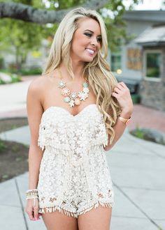 4e69a742932 Follow Your Bliss Crochet Romper Cream Spell Designs, Motel, Spelling,  Pretty In Pink