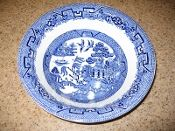 Woods Ware Willow Blue Round Vegetable Bowl