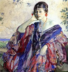 The Athenaeum - MILLER, Richard Emil American Impressionist (1875-1943)_Breezy Day