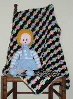 Free Crochet Pattern:  Debbie's Tropical Fruit Baby Afghan