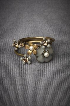 Autumnal Stacking Rings, $100.00 BHLDN