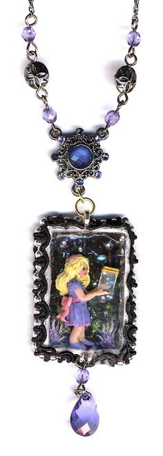 Catching Fireflies Necklace by Sheila A. Nielson