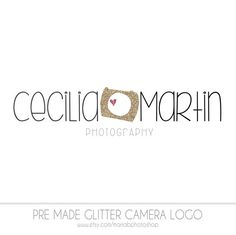 Pre made Camera Photography Logo fun glitter by MariaBPaints